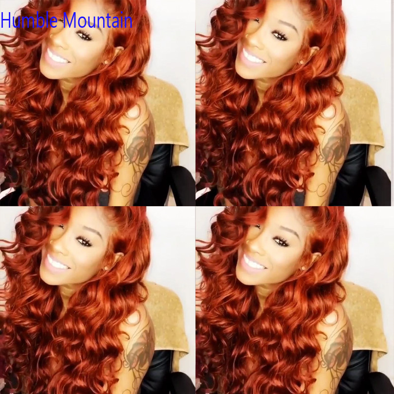Ginger Orange 360 Wig Human Hair Brazilian Nature Dream Curl Lace Front Human Hair Wigs PrePlucked Colored Human Hair Wigs