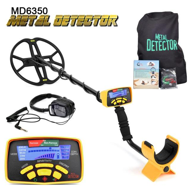 Underground Metal Detector Professional MD6350 Gold Digger Treasure Hunter MD6250 Updated MD-6350 Pinpointer LCD Display 1