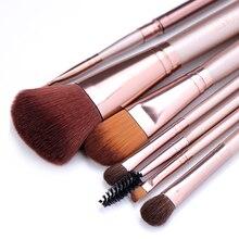 7 pièces/ensemble de pinceaux de maquillage pour fond de teint poudre cosmétique fard à paupières lèvres maquillage pinceaux ensemble outil de beauté maquiagem livraison directe