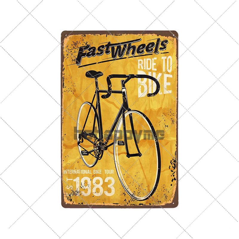 Metal Sign SPR che Cyclist helmet Metal Wall Deco Sign 20X30 cm