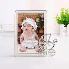 Personalized Baptism Picture Frame 4x6 Photo baby Christening Gift Silver Metal Border