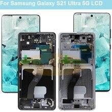 شاشة لمس LCD بديلة ، لجهاز Samsung S21 Ultra G998B G998B/DS G998U G998U1 G998W G998N G9980 G998