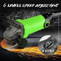 220V 1350W Multi function Angle Grinder 6 Levels Speed Adjustable Polishing Machine Refit Angle Grind Grinding Drilling Tools