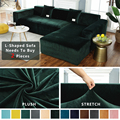 Thick Velvet Sofa Cover Universal Stretch Elastic Sofa Cover For Living Room Couch Slipcovers Corner Sofa Covers