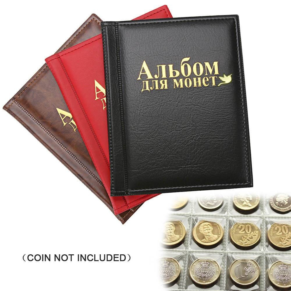1PCS New Flying Pigeon Style Portable Coin Album 10 Pages Fit 250 Units Coin Collection Book Russian Language Pocket Coin Album
