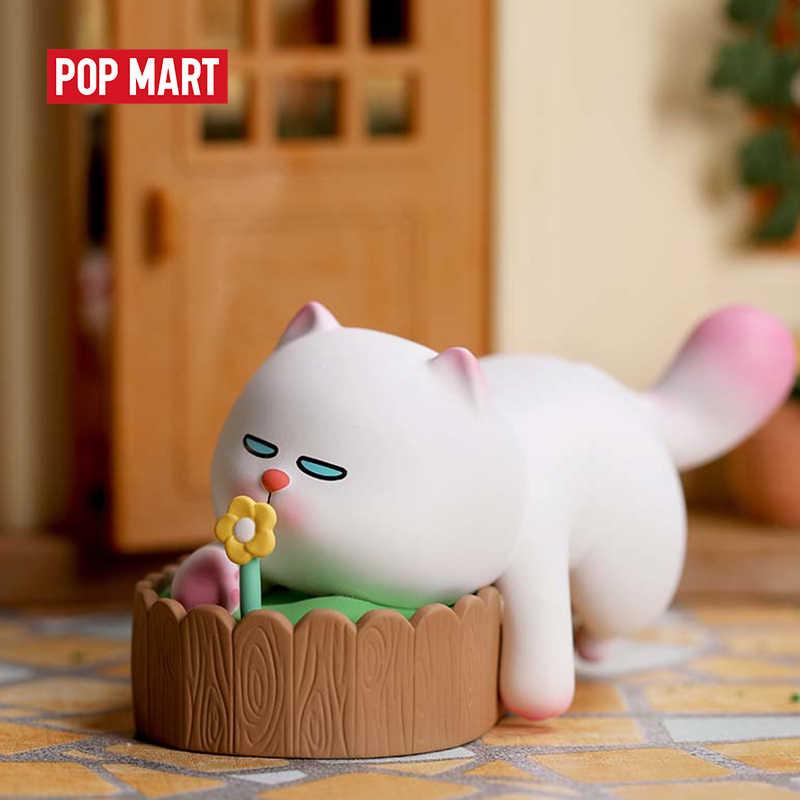 Mexico city'den POPMART VIVI kedi Lazily yalan eğilimli kedi serisi kör kutu bebek ikili aksiyon figürü doğum günü hediyesi çocuk oyuncak