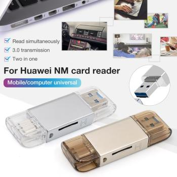 4 IN 1 Function For Huawei NM Card Reader Type-c Computer Two-In-One Zinc Alloy TF / NM Card Multi-drive Letter For Macbook Pro