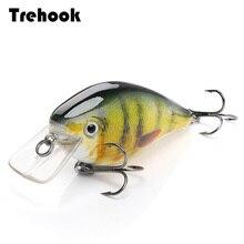 TREHOOK 6cm 12g Kurbel Wobbler für Fisch Schwimmende Künstliche Harten Köder Hecht Crankbait Topwater Locken minnow
