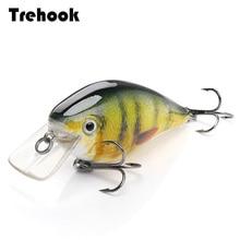 TREHOOK 6cm 12g woblery korby dla ryb pływające sztuczna twarda przynęta szczupak Crankbait przynęty wędkarskie Topwater Lure Minnow