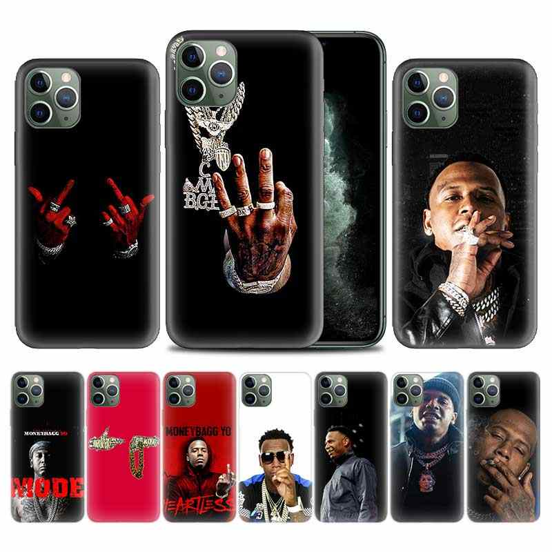 Moneybagg Yo di Caso per Apple iphone 11 Pro XS Max XR X 7 8 6 6S Plus 5 5S SE 5C Soft Cover Del Telefono TPU Coque