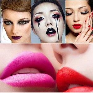 8 farbe Vampire Dark Red Schwarz Rot Gothic Charme Lila Blau Schwarz Lippenstift Kein Ausbleichen Lange-dauerhaft Nicht-stick Zu Tasse Make-Up Schönheit