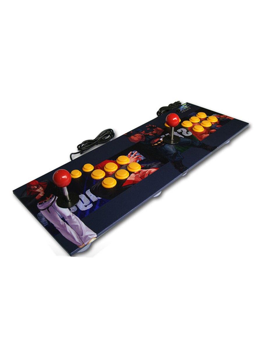 Купить с кэшбэком Cdragon Double Players Arcade Stick Video Game Joystick Controller wooden Gamepad For Windows PC memory Fighting  Game