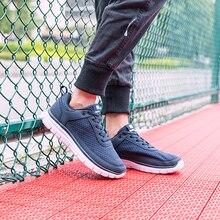 Brand Men Sneakers Breathable Mesh Men Casual Shoes Quality Lace up Comfort Light Man Footwear Plus Size 15 zapatillas hombre недорого