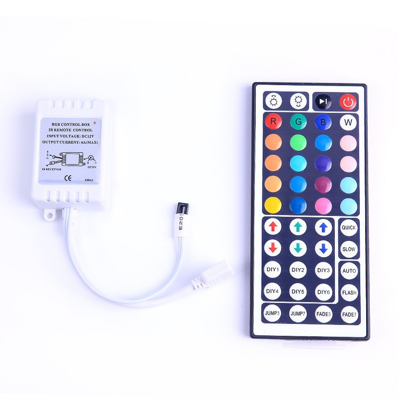 LED With Controller Colorful Controller Dimmer 12V 44 Key RGB Lamp Infrared Controller