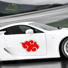 EARLFAMILY – autocollants imperméables pour Ninja Akatsuki, 43cm x 41cm, panneau de voiture, protection solaire, adhésif anti-rayures, Occlusion