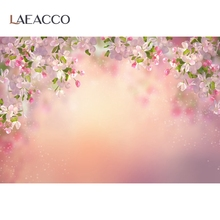 Spring Flower Backdrops For Photography Petal Baby Newborn Love Light Bokeh Portrait Photography Backgrounds For Photo Studio