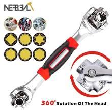 360 graus multiuso tiger wrench 8 em 1 ferramentas socket works universal catraca spline parafusos torx manga rotação ferramentas manuais