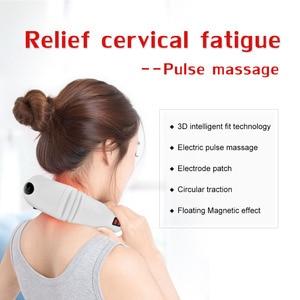 Image 5 - חשמלי צוואר חזרה דופק לעיסוי אינפרא אדום חימום צוואר הרחם ויברטור כתף דיקור גירוד לעיסוי בריאות מרגיע