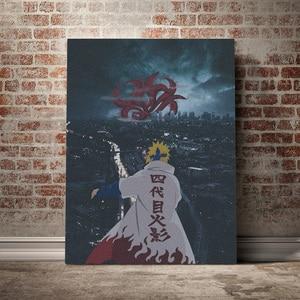 Minato Namikaze Naruto anime Canvas poster Painting wall Art decor Living room Bedroom Study Home Decoration Prints