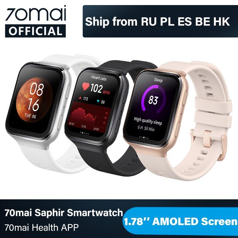 Первые Часы 70mai Saphir 2020 70mai умные часы Bluetooth GPS Спорт пульсометр 5ATM напоминание о звонке 70mai уведомление приложения|Смарт-часы|   | АлиЭкспресс