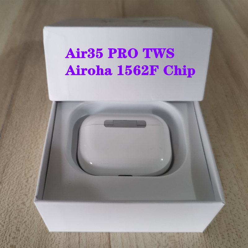 Air 35 Pro TWS Airoha 1562F Chip Wireless Bluetooth Earphone With Charging Case Super Bass True Light Sensor PK I90000