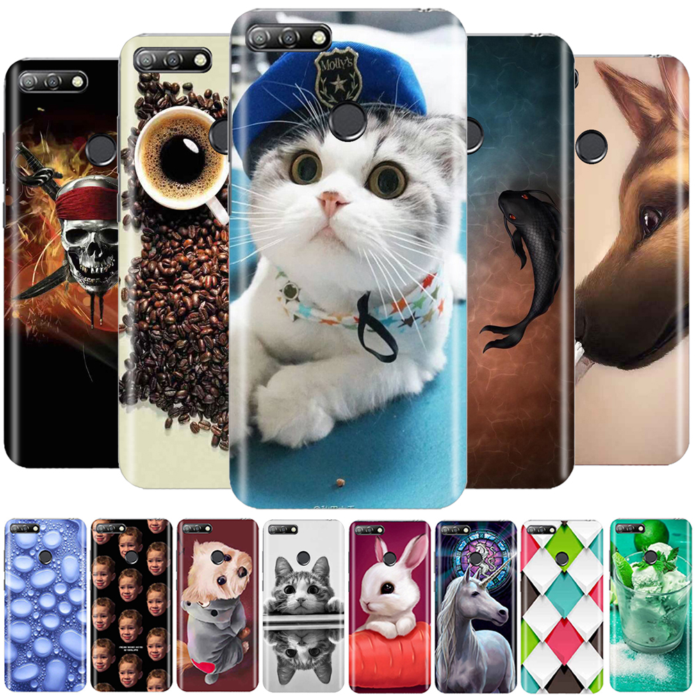 Case for Huawei Honor 7A Pro Cover Silicone Soft TPU Funda Y6 2018 Coque Capa
