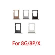 10 шт. держатель лотка для sim-карты для iphone 8 Plus 8 P 8G адаптер для sim-карты запасные части