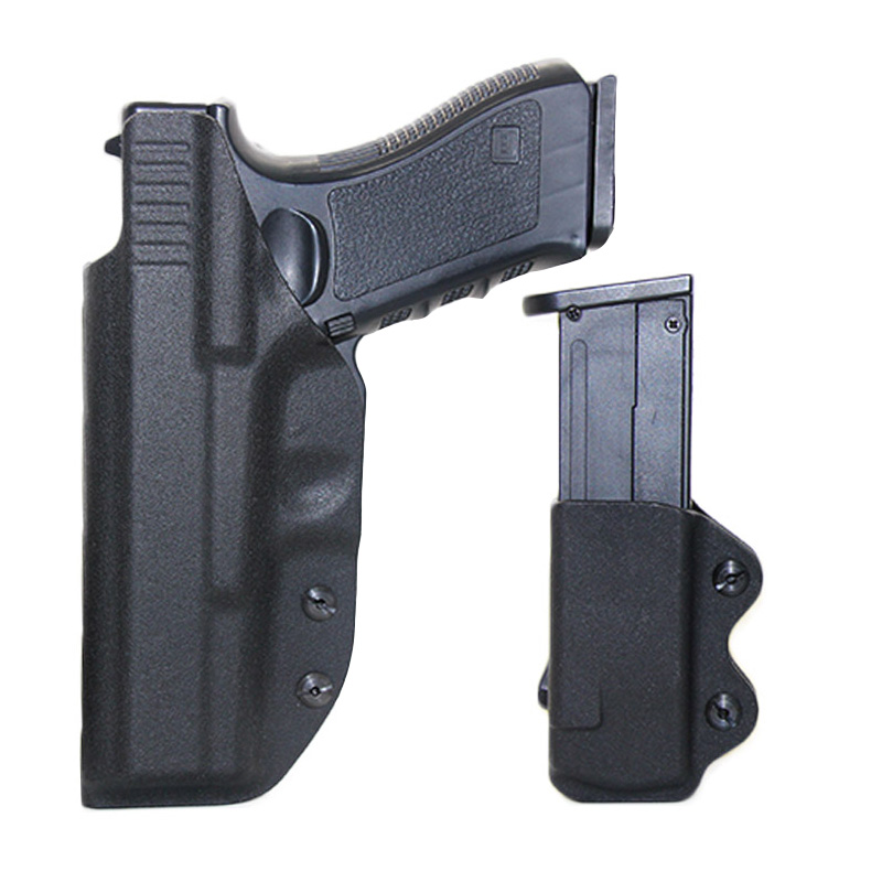 IWB Kydex Airsoft Pistol <font><b>Gun</b></font> Holster For <font><b>Glock</b></font> 17 22 31 43 43X Holsters Concealed Carry With <font><b>9mm</b></font> Mag Pouch Hunting Accessories image