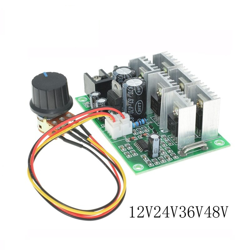 12V-55 DC Motor Supporting Governor Brush Motor Controller Module Stall Protection Soft Start