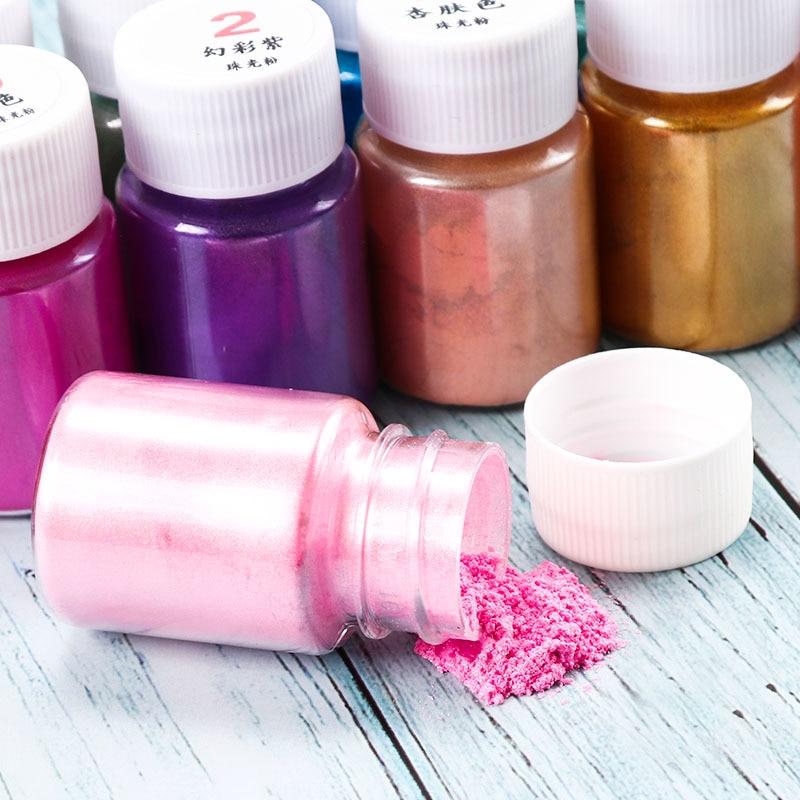 10g Supplies Slime Art DIY Pearl Powder Llizuny Powder Coloring Pigment Crystal Clay Silt Mica Shine Decoration Play Toys Kid