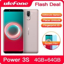 "Ulefone power 3s 6.0 ""18:9 fhd + telefone móvel mtk6763 octa núcleo android 8.1 4gb + 64gb 16mp 4 câmera 6350mah face id 4g smartphone"