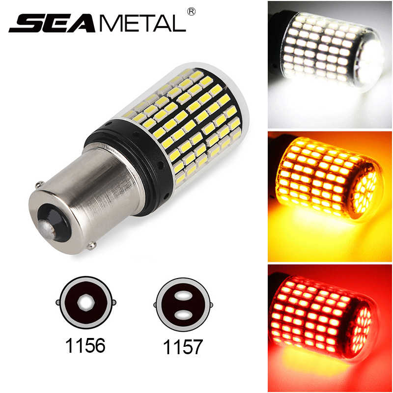 Auto 12V Led 3014 144 Smd BA15S 1156 BA15D 1157 Canbus Led-lampen Geen Fout Auto Brake Lamp richtingaanwijzer Lampen Reverse Lights