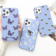Motyl telefon Coque etui na iPhone 12 Mini XS 11 Pro Max X XR 5 SE 2020 7 8 6S Plus etui kolorowe miękkie TPU silikonowa okładka tanie tanio Azda CN (pochodzenie) Back fashion Printed Phone Cases Fundas Capa iPhone11 iPhone7 Purple Apple iphone ów Iphone 5 Iphone 6 plus