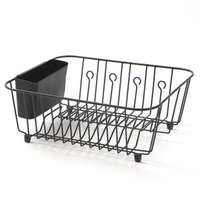 Kitchen Storage Organizer Dish Drainer Drying Rack Metal Kitchen Sink Holder Tray For Plates Bowl Cup Tableware Shelf Basket|Racks & Holders| |  -