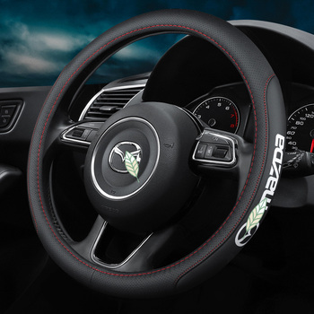 Car Steering Wheel Cover Anti-Slip for Mazda 2 3 5 6 8 RX MX CX30 CX5 CX7 CX3 CX9 Atenza AXELA Logo 38cm Accessories dsg carbon fiber steering wheel shift gear paddle extension shifter extended fit for mazda 3 6 cx3 cx4 cx5 mx5 accessories