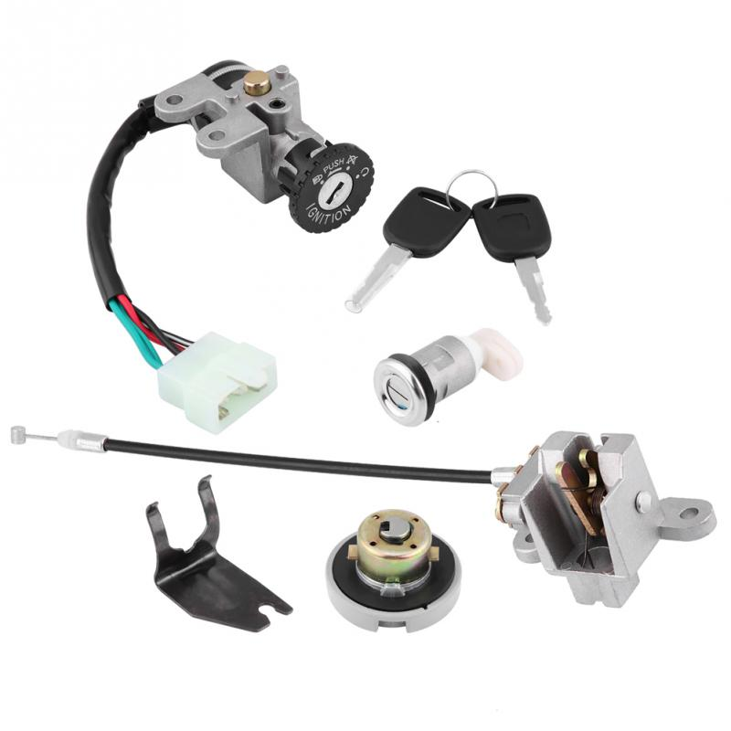 Motorcycle Ignition Switch Fuel Gas Cap Lock Keys with key for GY6 49cc 50cc 60cc 72cc 82cc 125cc 150cc Motorcycle lock kit