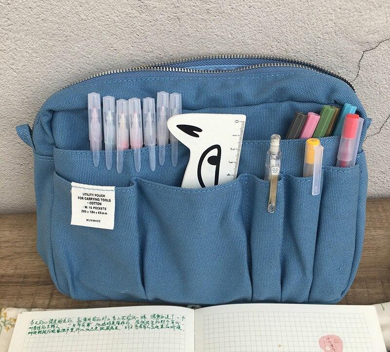 Japonês moda plana lápis saco criativo diário