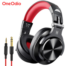 Oneodio Fusion Professional Wired Studio DJ Headphones + Wireless Bluetooth 4.0 Headset HIFI Stereo Monitor Headphone With Mic oneodio monitor headphones hifi professional studio dj headphone bass stereo gaming headset for xiaomi iphone with microphone