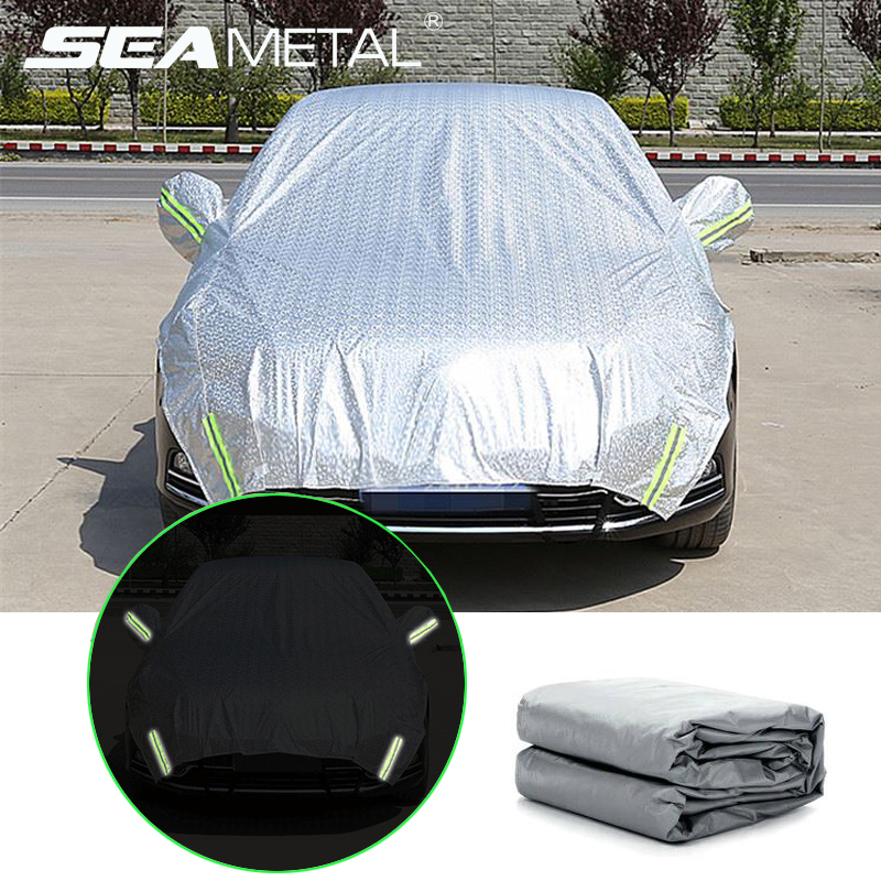 Car Waterproof Covers Sun Shade Half Car Cover Snow Cover Sunshade Anti UV Dust Proof Outdoor Protection Exterior Auto Tent Set