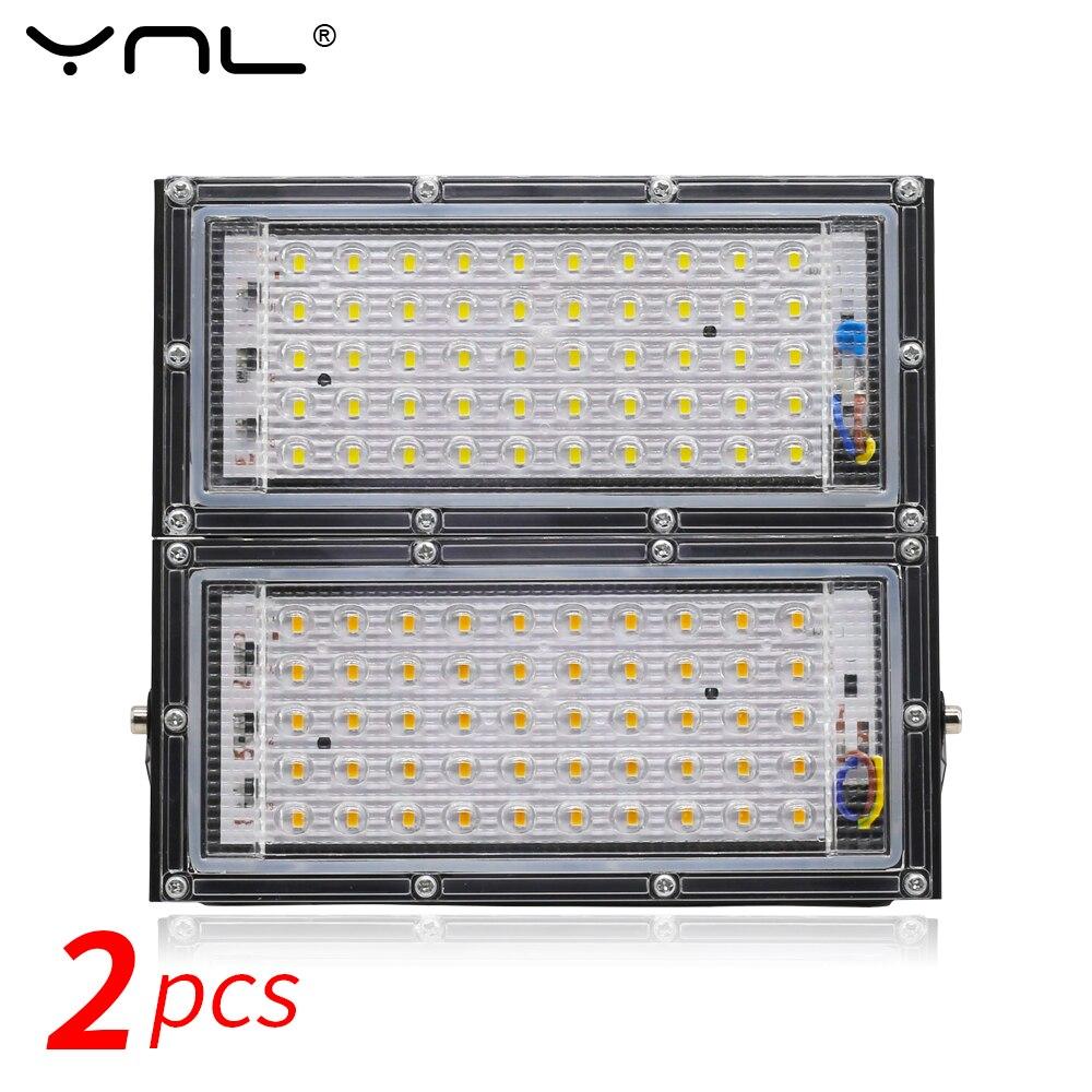 2pcs 50W LED Flood Light AC 220V 240V Spotlight Waterproof IP65 Outdoor Lighting LED Reflector Projector Garden Lamp FloodLight