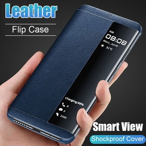 Leather Flip Phone Case Cover for Samsung Samsung Galaxy S7 Edge S8 S9 S10 Plus Coque Mobile Shell Funda with Smart View Window