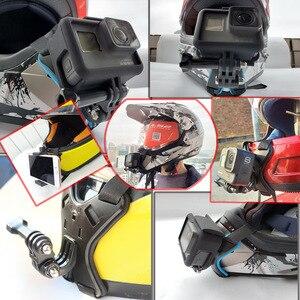 Image 5 - Soporte de montaje para casco de motocicleta, Correa fija para iPhone, cara completa, soporte de barbilla con soporte de teléfono para Cámara de Acción GoPro Hero 8/7/6/5