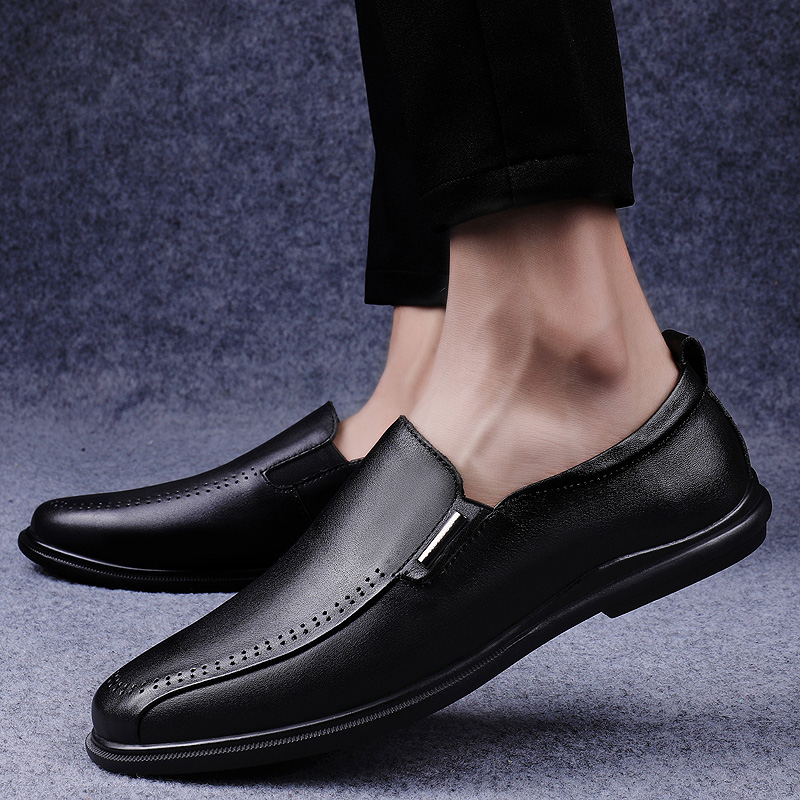 Men Genuine Leather Shoes outdoor fashion Soft Slip-On Sneakers Male Comfortable Casual Business Loafers Shoes Men moccasins a4