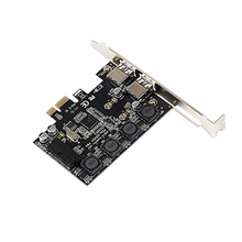Pci-E To Dual Usb3.0 Ports Expansion Card Pci Express Adapter Nec D720201 Main Control Chip for Desktop Pc with 19 Pin цена и фото
