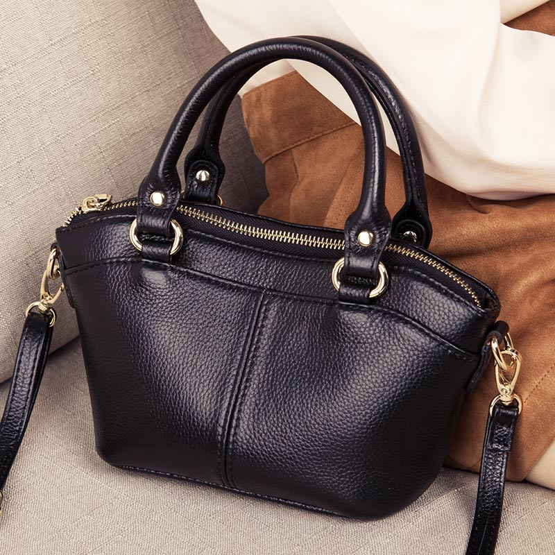 Small Shell Bag Lady Luxury Cow Leather Shoulder CrossBody Bags For Women  Genuine Leather Women's Handbags Messenger Bag