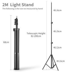 Image 3 - 2M 1/4 Screw Light Stand Tripod For Photo Studio Softbox Video Flash Umbrellas Reflector Lighting Bakcground Stand