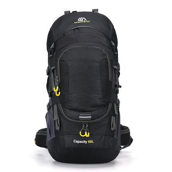 Outdoor backpack camping bag 50/60l men with light reflection waterproof travel backpack man camping hiking bags backpack sports facecozy camping hiking outdoor waterproof backpack men