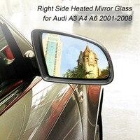 Vidro elétrico aquecido lateral da porta da asa da movimentação da esquerda direita para audi a3 a4 a6 2001-2008