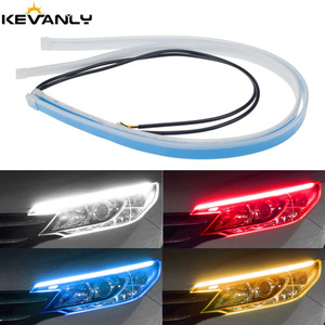2PCS Led DRL Daytime Running Lights Turn Signal DRL Led Strip Car Light Accessories Brake Side Lights Headlights For Auto LEDDRL