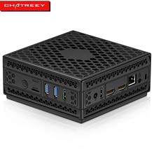 Chatreey AC1-Z безвентиляторный мини-ПК Intel Celeron Quad core J4125 двойной HDMI настольный компьютер windows 10, linux, HTPC, супер-генераторная установка